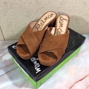 Sam Edelman Jayne Brown Suede Sandals